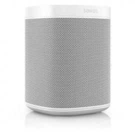 Sonos 2 x One Gen 2 Wireless Speakers in White with Amazon Alexa side